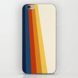 Bright 70's Retro Stripes iPhone Skin