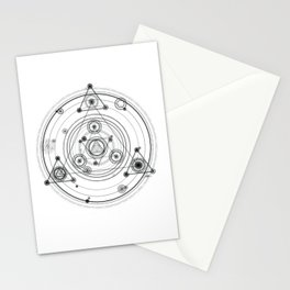 Sacred geometry and geometric alchemy design Stationery Cards