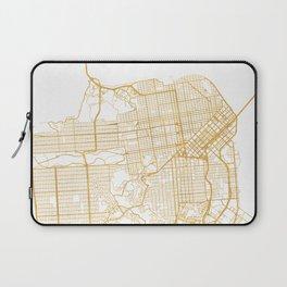 SAN FRANCISCO CALIFORNIA CITY STREET MAP ART Laptop Sleeve