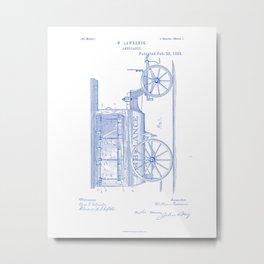 Ambulance Vintage Patent Hand Drawing Metal Print
