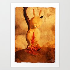 Man dies of cold, not of darkness. Art Print