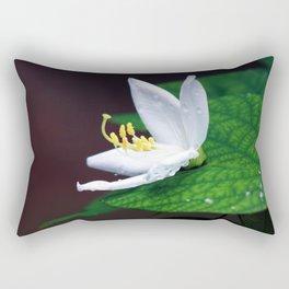 drop that flower Rectangular Pillow