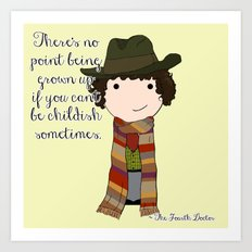 Doctor Who The Fourth Doctor Art Print