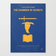 No101-2 My HP - CHAMBER OF SECRETS minimal movie poster Canvas Print