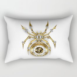 Spider with Clock ( Steampunk ) Rectangular Pillow