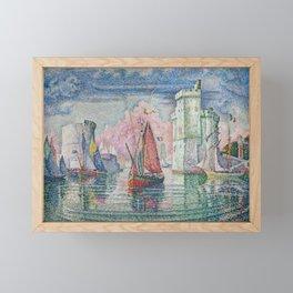 Entrance to the Port of La Rochelle Framed Mini Art Print