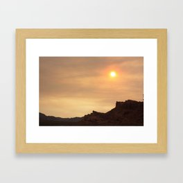 Desert Sunset Photo Framed Art Print