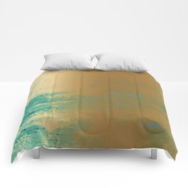 457 13 Teal and Gold Comforters
