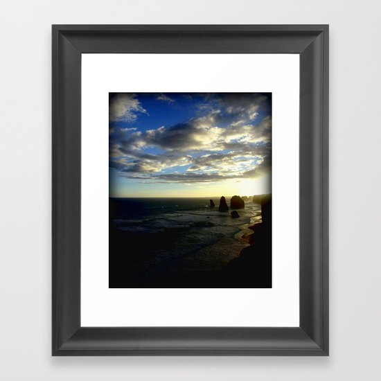 Clouds circling the Twelve Apostles Framed Art Print