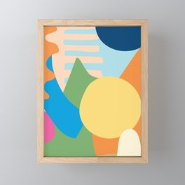 Colorful Modern Abstract Framed Mini Art Print