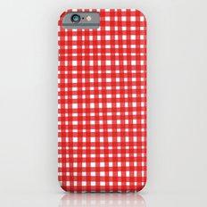 Red Gingham iPhone 6s Slim Case