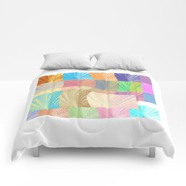Digital Abstract Composition Comforters