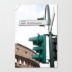 Piazza del Colosseo Canvas Print