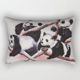 Lazy days Panda's by Machale O'Neill Rectangular Pillow
