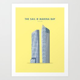 The Sail at Marina Bay, Singapore [Building Singapore] Art Print