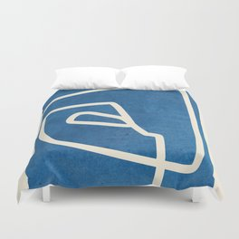 abstract minimal 57 Duvet Cover