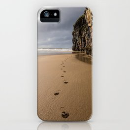 Footprints in the Sand iPhone Case