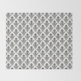 Damask Pattern | Black and White Throw Blanket