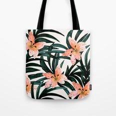 Tiger Lily Tropical Tote Bag