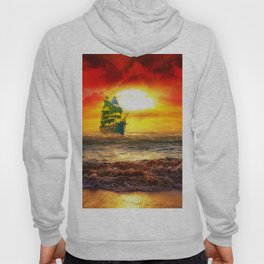 Black Pearl Pirate Ship Hoody