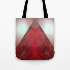 FX#412 - Red Pyramid Bright Tote Bag