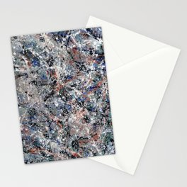 Number 3 Abstract Painting by Mark Compton Stationery Cards