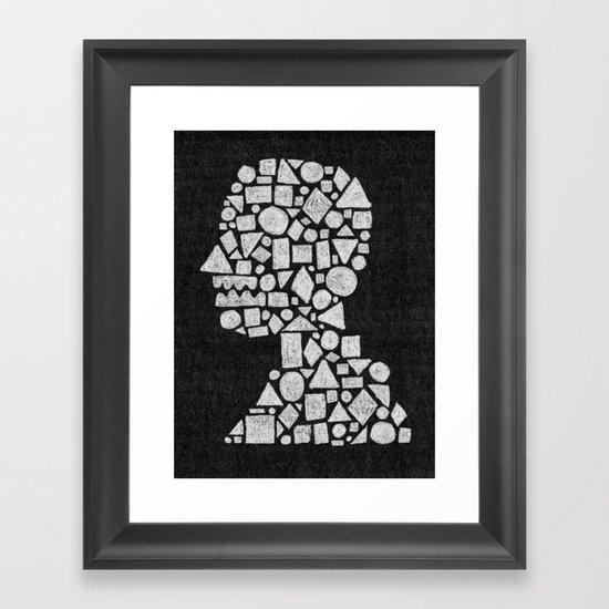 Untitled Silhouette in Reverse. Framed Art Print
