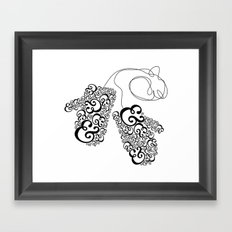 Ampersand Mittens Framed Art Print
