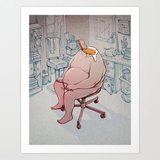 egg soldiers Art Print