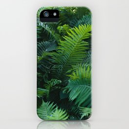 GREEN FERNS iPhone Case