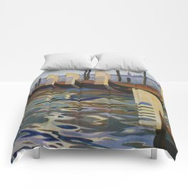 Venice, Italy Vintage Travel Poster Comforters