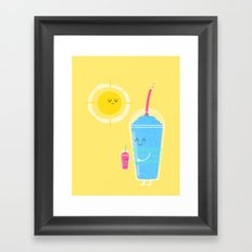 Cool Treat to Beat the Heat Framed Art Print