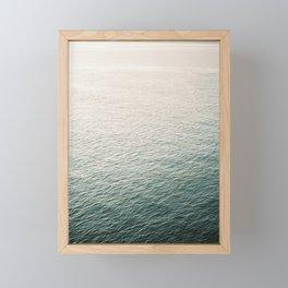 "Coastal beach photography ""Free as the ocean"" | Modern wall Art Sea Ibiza Framed Mini Art Print"