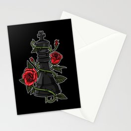 King Figure With Roses - Chess Figures Stationery Cards