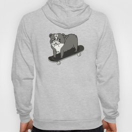 Skateboarding English Bulldog Hoody