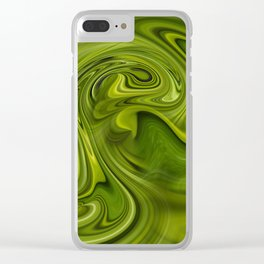Double green flow Clear iPhone Case