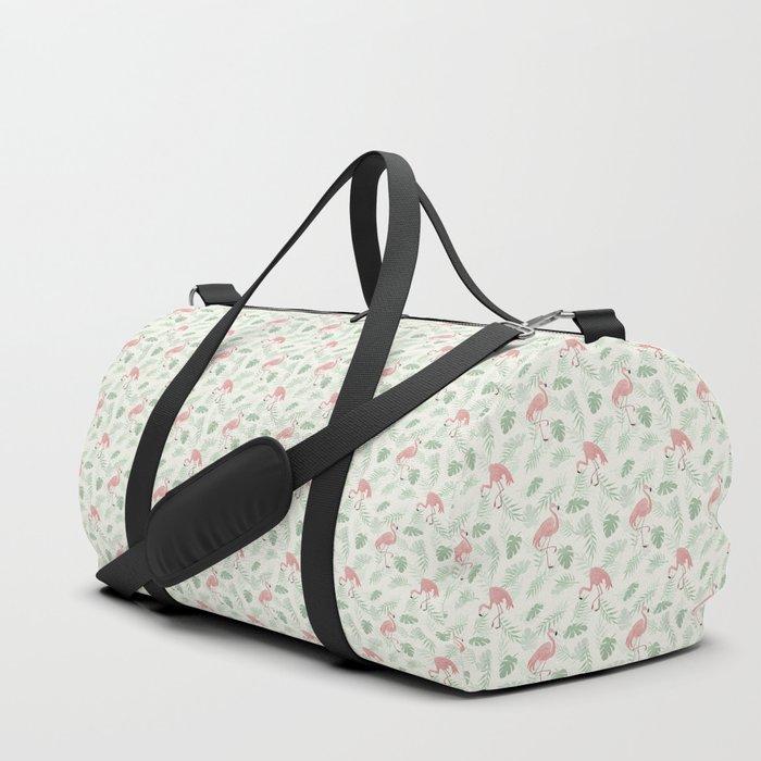 Flamingo Love Tropical Duffle Bag