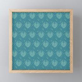 Baby feet background 6 Framed Mini Art Print