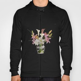 vase and flowers on white background . art Hoody