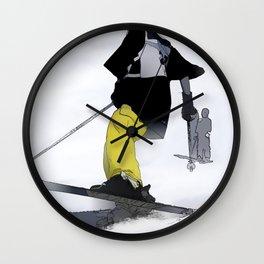 Ski Run Finish Wall Clock
