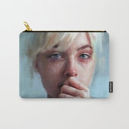crying portrait Carry-All Pouch
