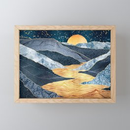 Golden Rift Framed Mini Art Print