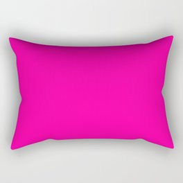 Girly modern neon pink solid color Rectangular Pillow