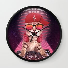 DJ cat Wall Clock