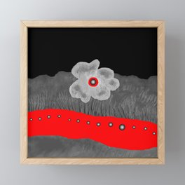 Poppy and red rivers Framed Mini Art Print