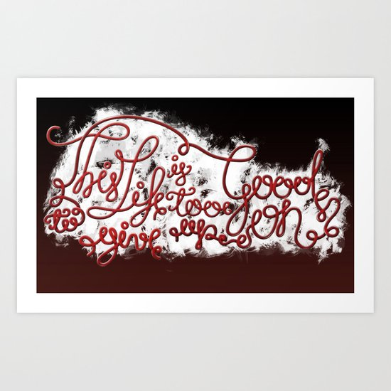 This Life - Red Version Art Print