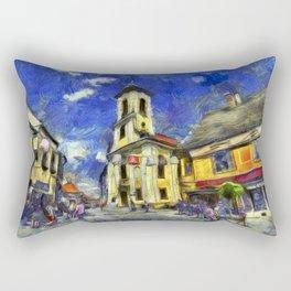 Szentendre Hungary Van Gogh Rectangular Pillow
