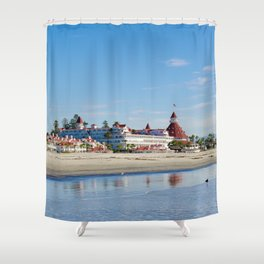 Winter at The Del Shower Curtain