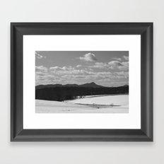 Sauratown Mountain Range Snow Framed Art Print