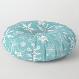Snowflake Collection –Teal Floor Pillow